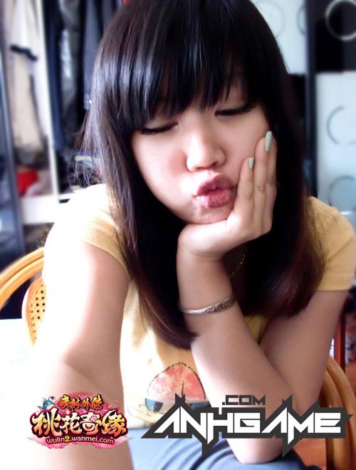 Vẻ đẹp đáng yêu của nữ game thủ Võ Lâm Ngoại Truyện 2