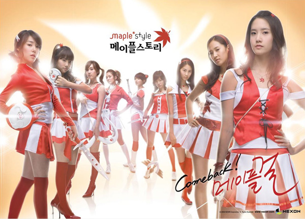 Girls Generation rực rỡ trong cosplay MapleStory