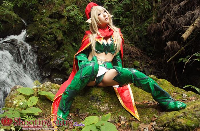 Cosplay Queen's Blade nóng bỏng mắt của Sakuya