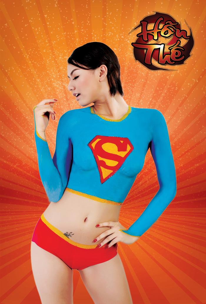 Cosplay body painting của Song Quế cho Hỗn Thế - Ảnh 3