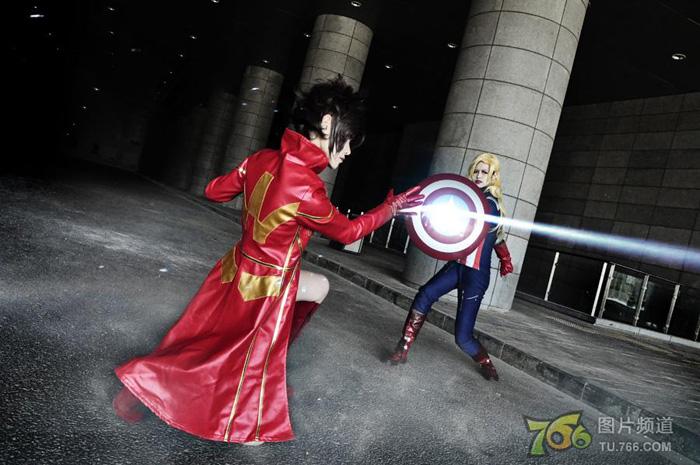 Captain America và Iron Man phiên bản nữ đại chiến - Ảnh 7