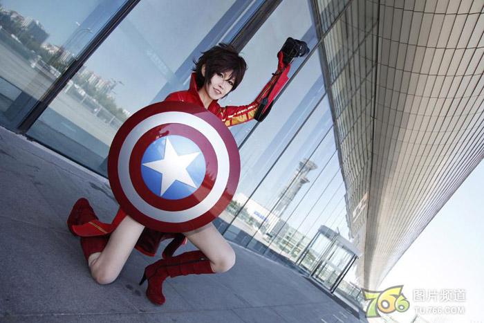 Captain America và Iron Man phiên bản nữ đại chiến - Ảnh 10