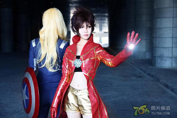 Captain America và Iron Man phiên bản nữ đại chiến - Ảnh 11