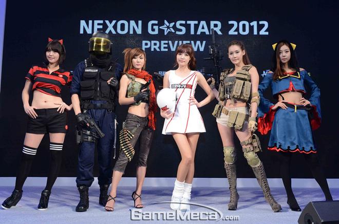 Dàn chân dài xinh đẹp của Nexon tại Gstar 2012