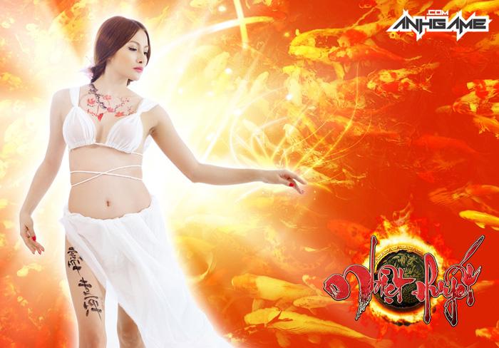 Mỹ nhân Nhiệt Huyết Online khoe vòng 1 nóng bỏng