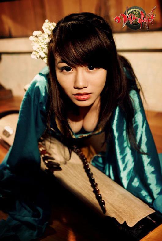 Linh Miu lả lơi trong cosplay Nhiệt Huyết Online - Ảnh 7