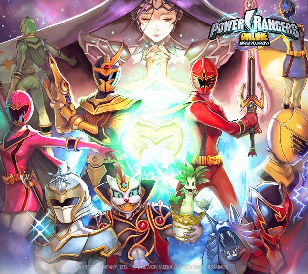 Soi hình nguyên họa của Power Rangers Online - Ảnh 1