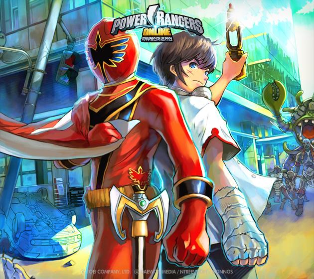 Soi hình nguyên họa của Power Rangers Online