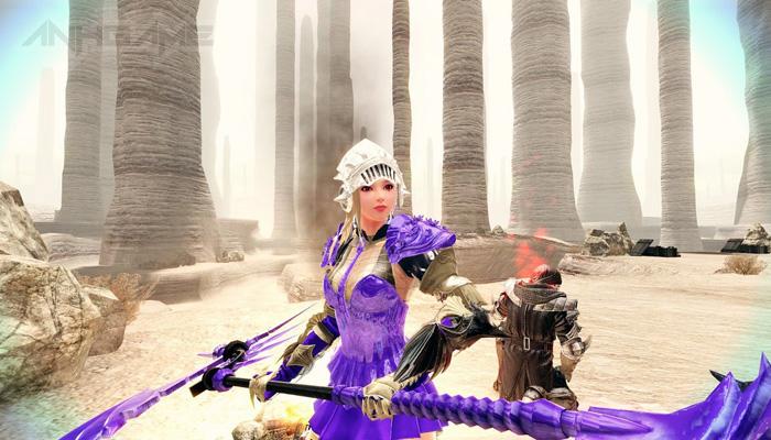 Mabinogi Heroes: Evie và lưỡi hái tử thần màu tím