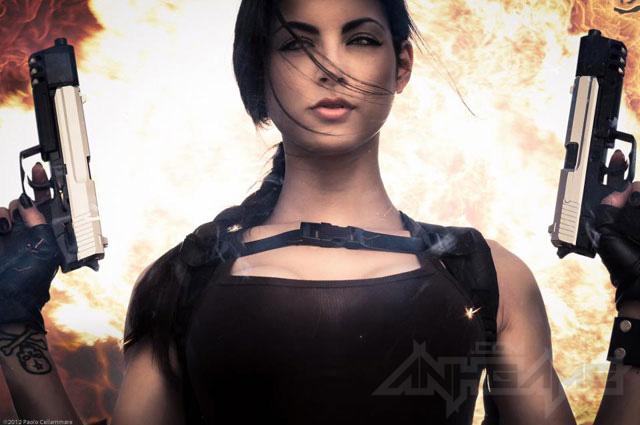 LeeAnna Vamp gợi cảm với cosplay Lara Croft - Ảnh 1